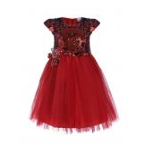Стильное платье с пайетками красное