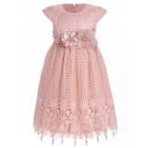 Платье с большими цветами розовое