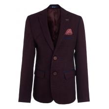 Пиджак для мальчика с платком, бордовый