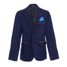 Пиджак для мальчика с платком, светло-синий