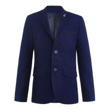 Пиджак для мальчика с платком, синий