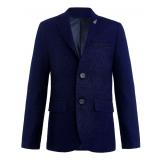Пиджак для мальчика с платком, темно-синий