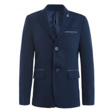 Пиджак для мальчика с платком, глубокий синий
