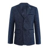 Пиджак для мальчика с двумя пуговицами, темно-синий