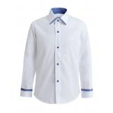 Рубашка для мальчика однотонная со вставкой, белая