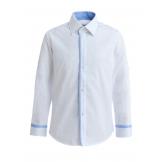 Рубашка для мальчика однотонная, белая