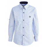 Рубашка для мальчика однотонная, голубая