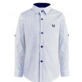 Рубашка для мальчика с узором, белая