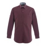 Рубашка для мальчика однотонная, бордовая