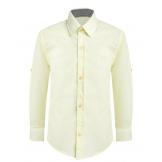 Рубашка для мальчика однотонная, желтая