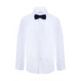 Рубашка для мальчика однотонная с бабочкой, белая
