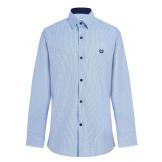 Рубашка для мальчика с геометрическим узором, голубая