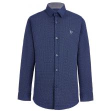 Рубашка для мальчика в горошек, синяя