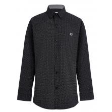 Рубашка для мальчика в горошек, черная