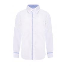 Рубашка для мальчика белая с голубым