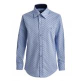 """Рубашка для мальчика с узором """"цветок"""", голубая"""