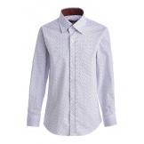 """Рубашка для мальчика с узором """"галочки"""", белая"""