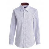 "Рубашка для мальчика на пуговицах с узором ""галочки"", белая"