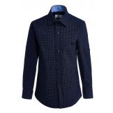 Рубашка для мальчика с узором, синяя