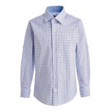 Рубашка для мальчика на пуговицах с узором, белая