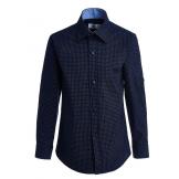 Рубашка для мальчика на пуговицах с узором, синяя
