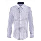 Рубашка для мальчика в клетку, белая