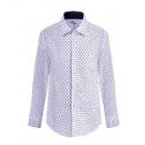 """Рубашка для мальчика с узором """"стрелочка"""", белая"""