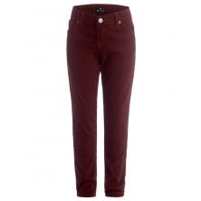 Стильные брюки для мальчика в школу, бордовые