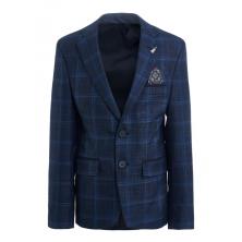 """Пиджак для мальчика с брошью """"Гитара"""", темно-синий"""