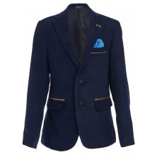 Модный пиджак для мальчика, темно-синий