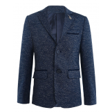 Пиджак для мальчика на пуговицах, темно-синий