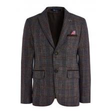 Пиджак для мальчика приталенный, разноцветный