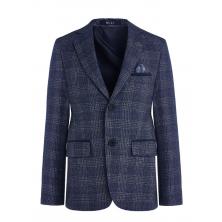 Пиджак для мальчика приталенный, светло-синий