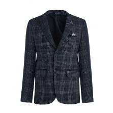 Пиджак для мальчика приталенный, синий