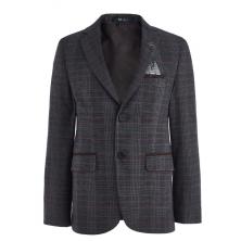 Пиджак для мальчика с брошью и платочком, разноцветный
