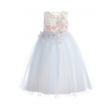 Пышное платье голубое