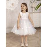 Платье нарядное с бабочками розовое