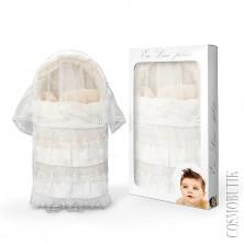 Конверт на выписку из шерсти для новорожденного зимний