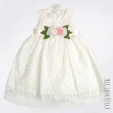 Белое платье с цветами