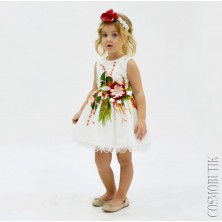 Платье с ободком с объёмными цветами
