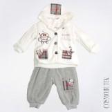 Костюм для новорожденного на пуговицах с карманами