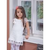 Кружевное платье с коротким рукавом