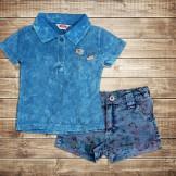 Поло и шорты для девочки