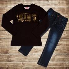 Комплект джинсы и футболка