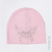 Шапка детская с бабочкой