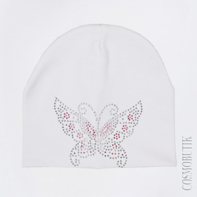 Детская шапка с бабочкой