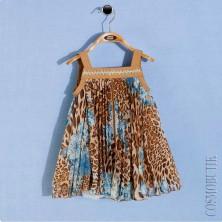 Платье сарафан с леопардовым принтом