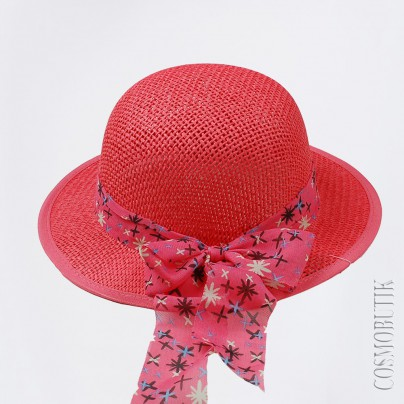 Шляпка соломенная детская