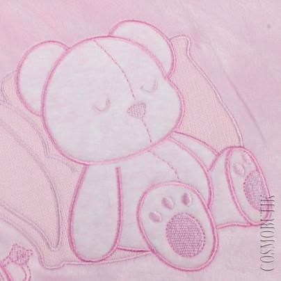 Розовый конверт для новорожденного на молнии