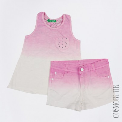Розово-молочный костюм Cichlid